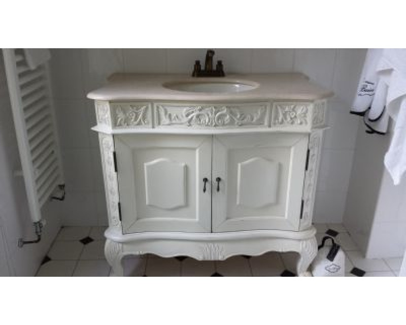 French Style Ivory Sink Unit With Marble Top