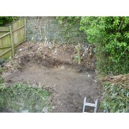 Small garden before shot. No access from back area.