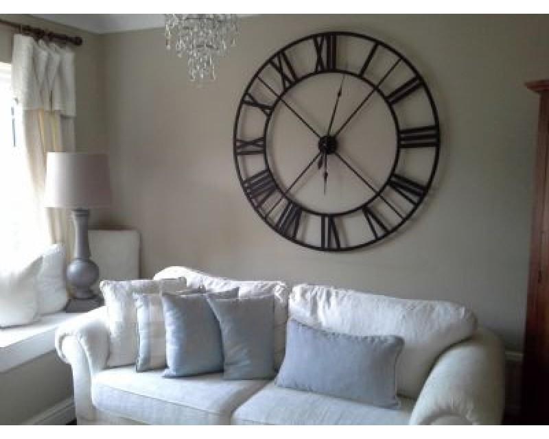 Extra Large Black Roman Numeral Clock