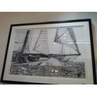 Framed Medford Black and White Sailing Ship Print