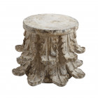 Large Carved Column Side Table