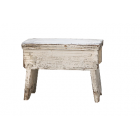 Antique Cream Old French Stool