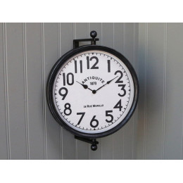 Black Metal Suspended Wall Clock