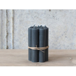 Grey Short Dinner Candle