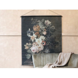 Large French Floral Hanging- Canvas