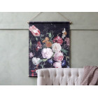 Large French Floral Hanging Canvas