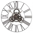 Large Metal Clock with Cogs