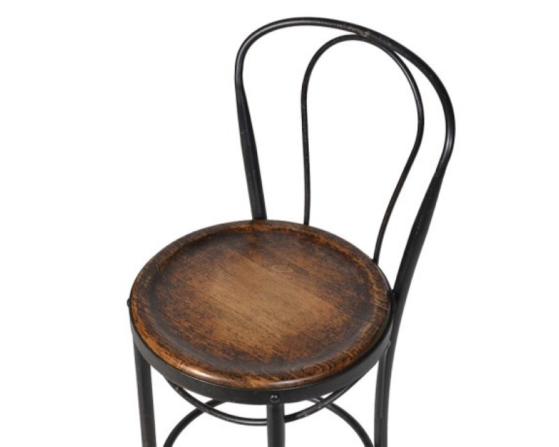 traditional metal bistro chair