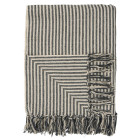 Cream & Black Stripe Throw