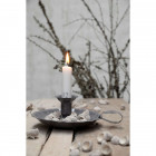 Grey Traditional Enamel Candle Holder