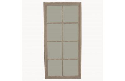 Grey washed Window Pane Mirror