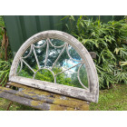 Distressed Fanlight Arched Mirror
