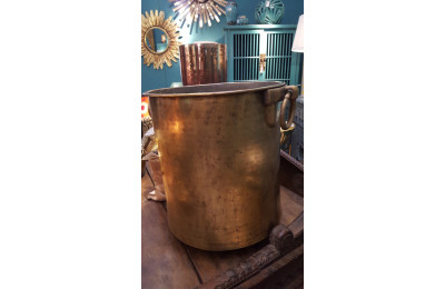 Large Brass Pot with Handles