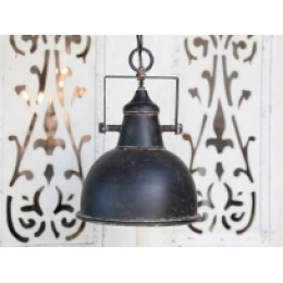 Antique Black Factory Style Ceiling Lamp