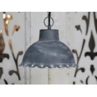 Antique Zinc Ceiling Lamp with Hearts in the Rim