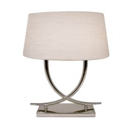Table lamps arianna nickel chrome table lamp with oval white shade aloadofball Image collections