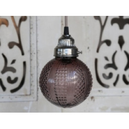 Dusty Purple Globular Pattern Ceiling Lamp