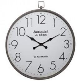 Extra Large Round Metal Wall Clock Antiquité de Paris