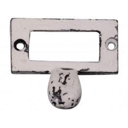 Handmade Distressed Metal Washed White Pull Handle