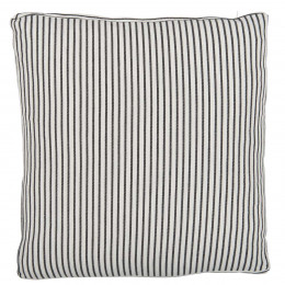 High Quality Black and White Stripe Linen Cotton Cushion Cover