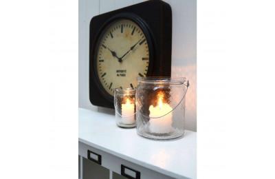 High Quality Distressed Black Square Wall Clock 'Antiquite de Paris'
