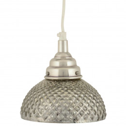 High Quality Distressed Silver Patterned Glass Ceiling Lamp