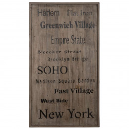 High Quality Distressed Timber New York Art Work Board
