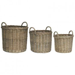 Set of Three High Quality Round Baskets